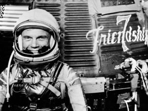Astronaut John Glenn before the historic Friendship 7 mission