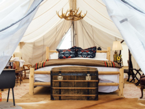 You've always wanted to: Go glamping in Montana How: Collective Yellowstone. Location: Big Sky, Montana. Price: Starting at $500 per night. Package/Experience: Situated lakeside on Moonlight Basin's 8,000 acres are luxury tents, where every amenity and activity is available at your fingertips. Farm-to-table chef-prepared meals, hiking, paddleboarding and of course all of the s'mores you can handle. Time commitment: As long as you want to spend outdoors. Adventure level: Moderate. Bucket list level: Moderate.