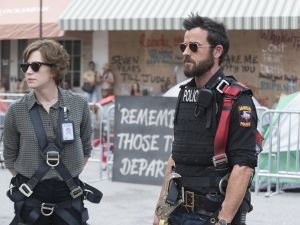 Carrie Coon as Nora Durst and Justin Theroux as Kevin Garvey.