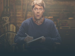 Tim Baltz in Seeso's new series, Shrink.