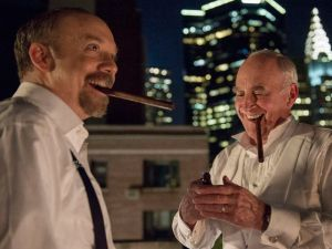 Paul Giamatti as Chuck Rhoades and Jeffrey DeMunn as Chuck Rhoades Sr.