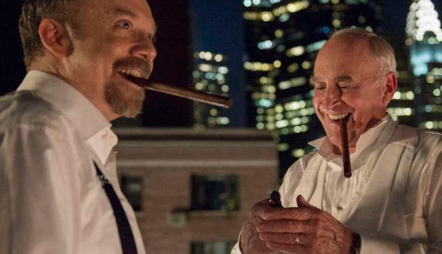 Paul Giamatti as Chuck Rhoades and Jeffrey DeMunn as Chuck Rhoades Sr.