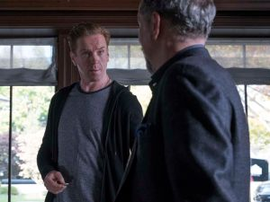 """Damian Lewis as Bobby """"Axe"""" Axelrod and David Costabile as Mike """"Wags"""" Wagner."""