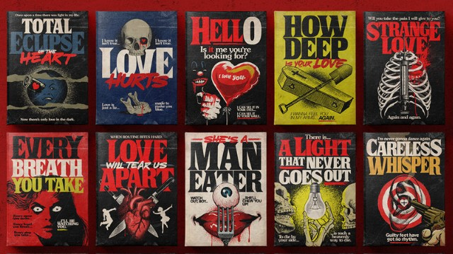 Artist Turns Classic Love Songs Into Incredible Stephen King Book Covers