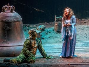 Rautendelein (Brandie Sutton) and the creatures of the forest in 'La Campana Sommersa'.