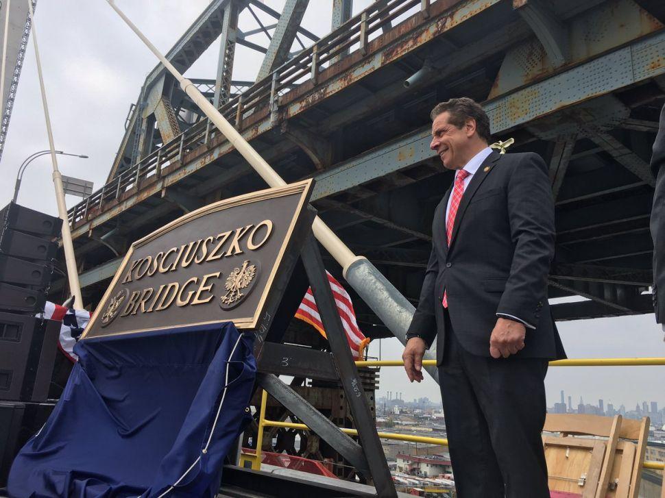 Andrew Cuomo Hails Kosciuszko Bridge Opening As His Latest Infrastructure Achievement