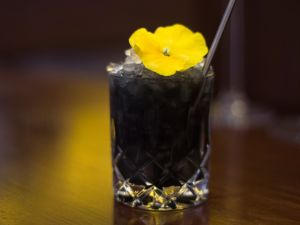 The Kawakubo cocktail was inspired by Comme des Garçons designer Rei Kawakubo.