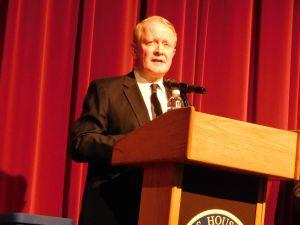Rep. Leonard Lance at an April 12 town hall meeting.