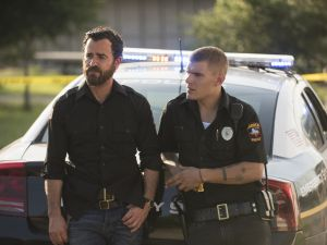 Justin Theroux as Kevin Garvey and Chris Zylka as Tom Harvey.