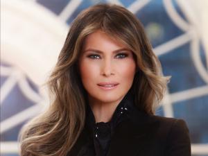 Melania Trump's official portrait.