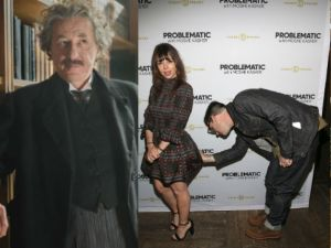 Geoffrey Rush in Genius, Natasha Leggero supporting her husband for the premiere of his new show Problematic With Moshe Kasher.
