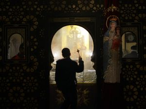 Egyptian Coptic Christians celebrate Christmas in Cairo, Egypt, on January 6, 2016.