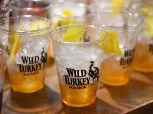 Wild Turkey Bourbon cocktails on display.