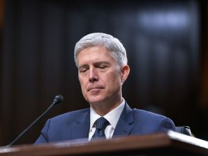 Neil Gorsuch testifies before the Senate Judiciary Committee on his nomination to be an associate justice of the US Supreme Court during a hearing in the Hart Senate Office Building on March 22, 2017.