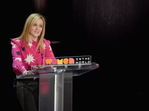 NEW YORK, NY - APRIL 06: Comedian Samantha Bee speaks during the Eighth Annual Women In The World Summit at Lincoln Center for the Performing Arts on April 6, 2017 in New York City.