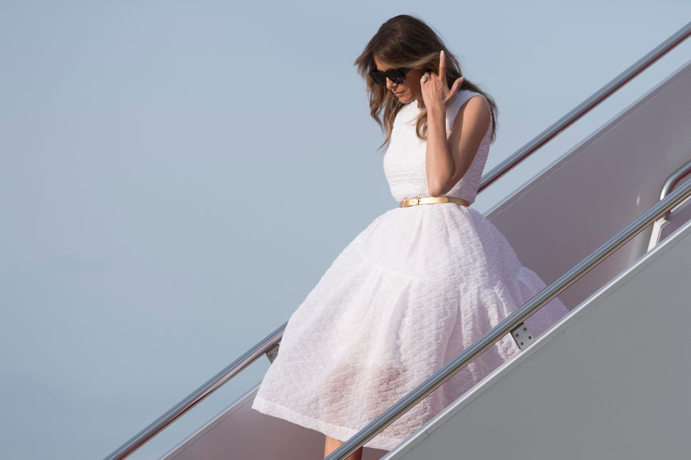 Melania Trump Wore a Lot of Pastel This Easter