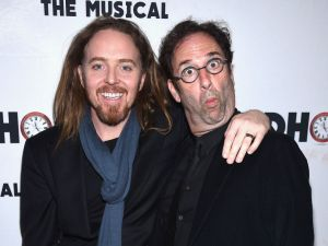 Danny Rubin (right) with Tim Minchin