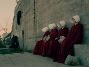 A shot from Hulu's new series The Handmaid's Tale.