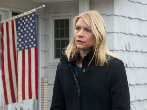 Claire Danes as Carrie Mathison.