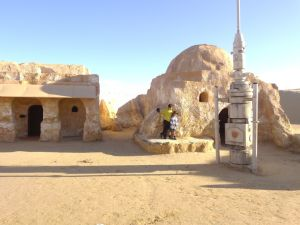 Visiting the set of the planet of Tatooine in the original 1977 Star Wars film.