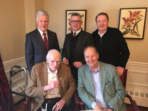 Jim Florio, Jim McGreevey, Dick Codey, Brendan Byrne, and Tom Kean Sr gathered in Livingston to celebrate Gov. Byrne's 93rd birthday.