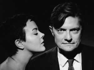 James Urbaniak with A Night Called Tomorrow star Azure Parsons.