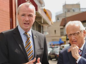 Phil Murphy and Rep. Bill Pascrell in Paterson