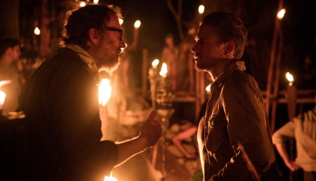 Director James Grey (left) on the set of The Lost City of Z.
