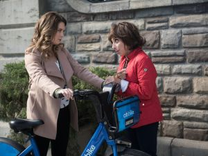 Briga Heelan as Katie and Andrea Martin as Carol in Great News.