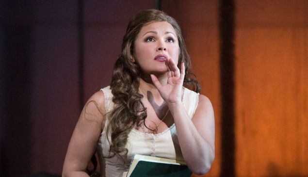 Tatiana (Anna Netrebko) composes her fateful love letter in 'Eugene Onegin'.