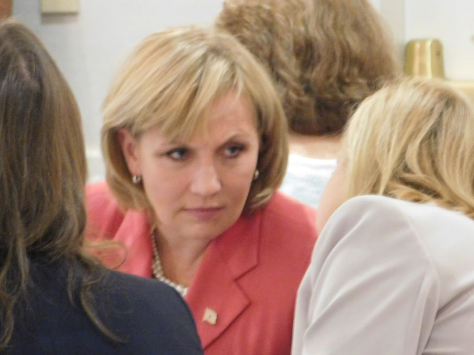 Guadagno, Asked About Gilmore, Says Ocean County Is Key to Victory