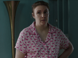Lena Dunham as Hannah Horvath on Girls.