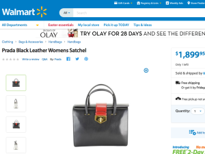 Actual proof of Prada at Walmart.com.