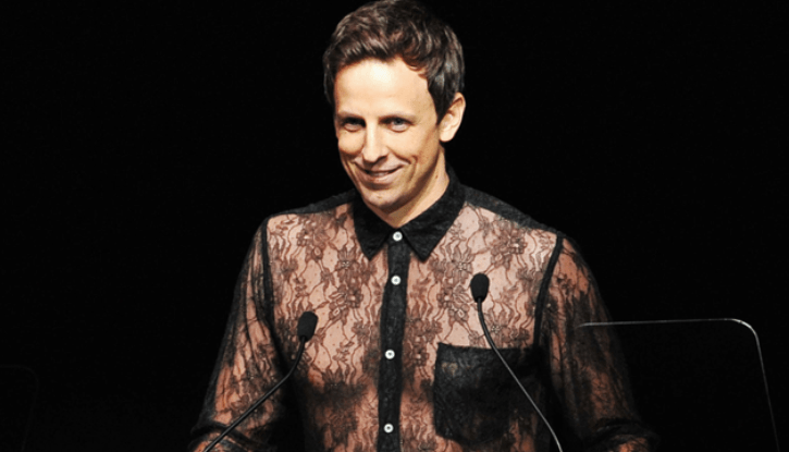 Will Seth Meyers Wear Another Lace Dress to Host the CFDA Awards?