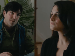Zachary Quinto and Jenny Slate in Aardvark.