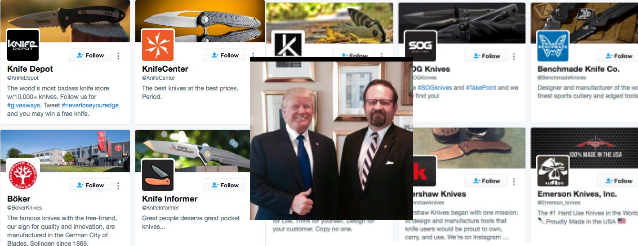 Trump's Deputy Assistant Follows Alarmingly High Number of Knife Accounts on Twitter
