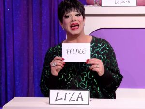 Alexis Michelle as Liza Minnelli on RuPaul's Drag Race.