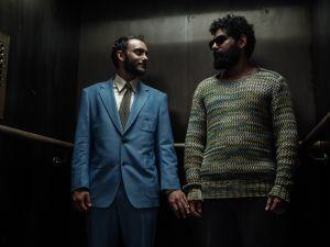 Omid Abtahi as Salim and Mousa Kraish as the djinn.