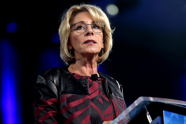 DeVos Changes Rules After Colleges Lost Millions Using the Wrong Font