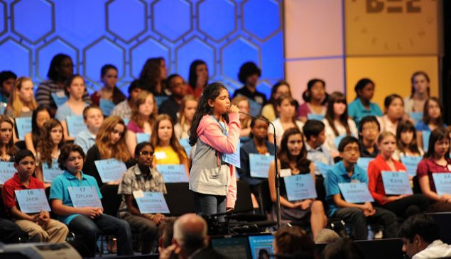 Participants in the Scripps National Spelling Bee.