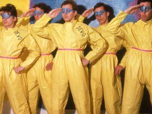 Eric Blum, DEVO in their signature hazmat suits, 1978.