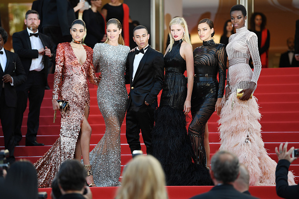 Olivier Rousteing Steps Out in Cannes, Sans the Kardashians