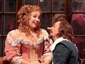 Jennifer Rowley as Roxane and Roberto Alagna as Cyrano in Alfano's 'Cyrano de Bergerac'.