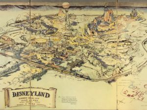 A 1953 map of Disneyland created by Walt Disney and Herb Ryman, which will be sold at Van Eaton Auctions and is estimated to fetch betwee $750,000 and $1 million.