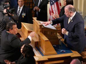Gov. Chris Christie and Senate President Steve Sweeney.