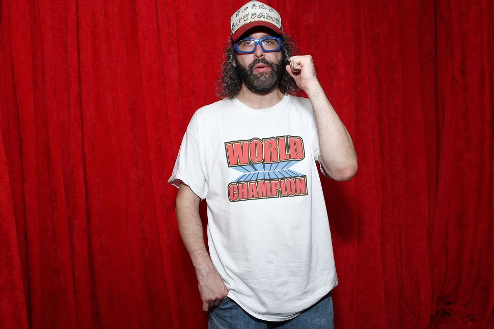 Watch Judah Friedlander Destroy This Derivative Art Robot in the Name of Humanity
