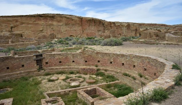 The ruins of Chetro Ketl house built by Ancient Puebloan People is seen at Chaco Culture National Historical Park.