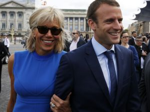 The couple at an annual Bastille Day military parade in Paris in 2015.