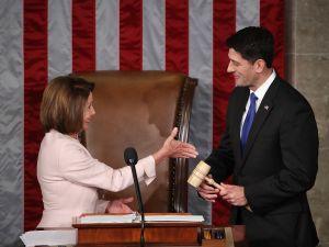 House Minority Leader Nancy Pelosi and House Speaker Paul Ryan.