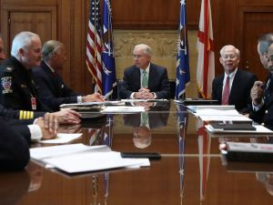 Attorney General Jeff Sessions meets with police chiefs from across the country.